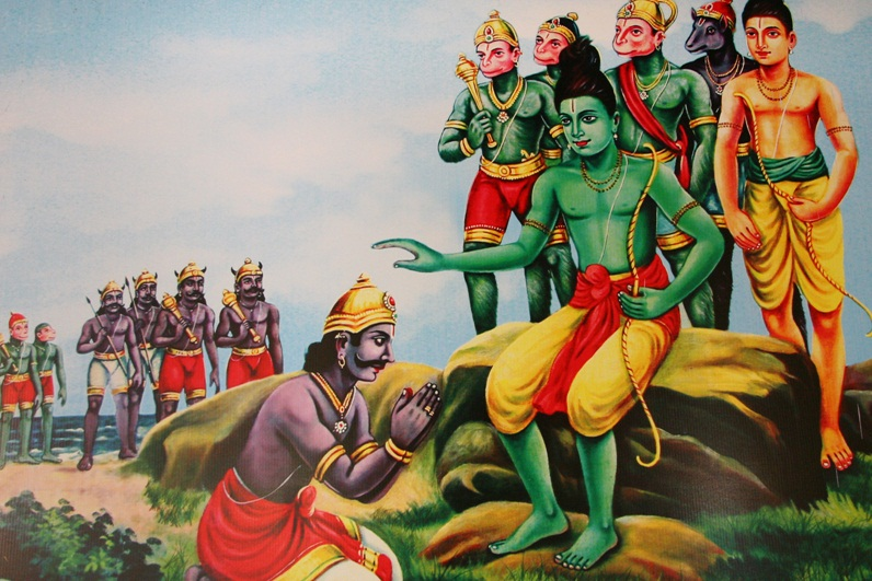 Image result for Vibhisana surrenders to Rama